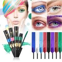 HUAMIANLI Brand Colorful Mascara Eye Makeup Set Lengthening Curling Quick Dry Natural Eyelash Waterproof Long Lasting