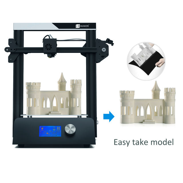 JGAURORA Magic 3D Printer Ducker Full Metal High Precision Large Build Size 220*220*250 impresora 3D With Free Gifts 8G Card