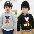 Дети одежда весна осень мальчики длинный рукав толстовка дети пуловер микки толстовки для мальчики
