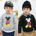sale children clothing 2015 spring autumn boys long sleeve sweatshirt good quality kids pullover mickey Hoodies for boys