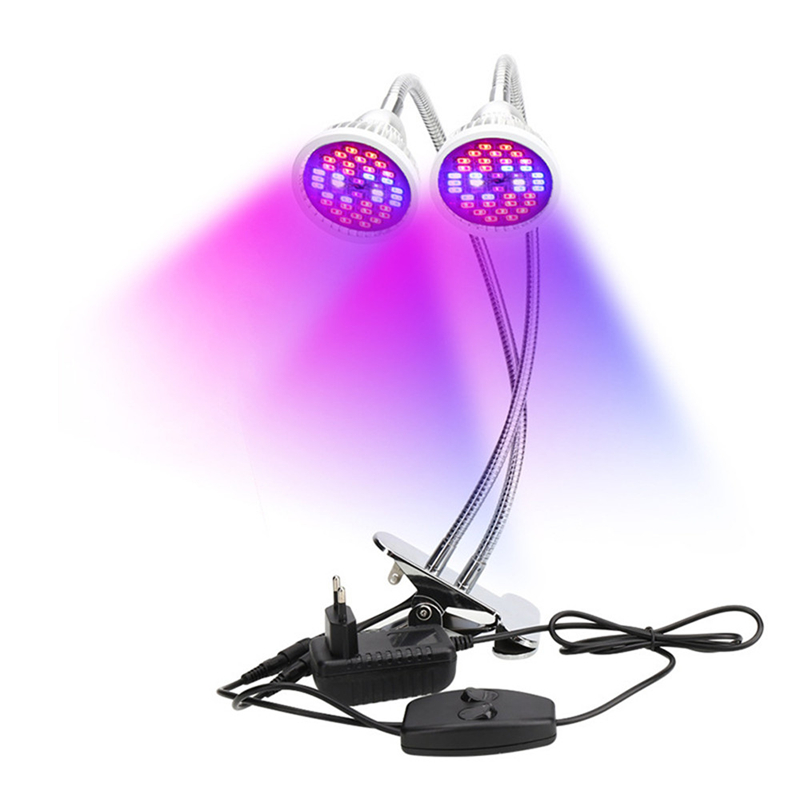 2 Heads LED Grow Light Dual Head 18W Plant Grow Lamp LED Fitolampy With Double on/off Switch For Hydroponics Grow System велосипед orbea grow 2 7v 2013
