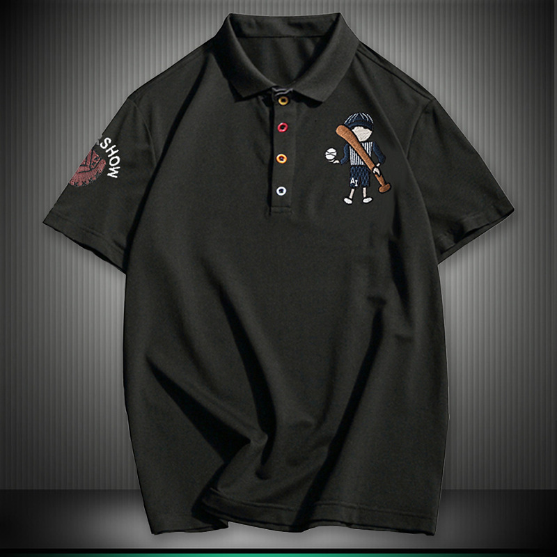 2018 Plus Size 8XL NEW England style Men   Polo   Shirt Summer Short Sleeve   Polos   Shirt Mens Camisa   Polo   Baseball Embroidery   POLOS
