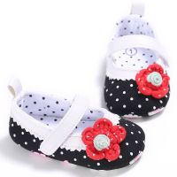 Infant Princess Baby Shoes Girls Soft Comfortable Toddler First Walkers Shoes With Little Flowers