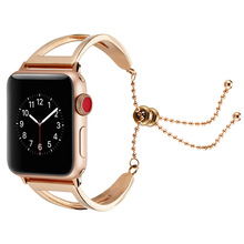 Ladies watch fashion new products for Apple bracelet strap AppleWatch stainless steel metal hollow girl