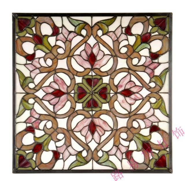 Lewis French Doors And Stained Glass Ornament European Style Church