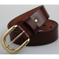 High Quality Men S Business Belt Top Layer Cowhide Belt Brown Genuine Leather Belt 100 Cow