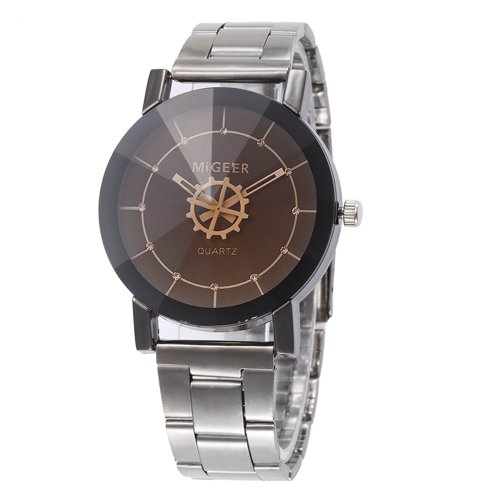 relogio masculino erkek kol saati Fashion Men Crystal Stainless Steel Analog Quartz Wrist Watch Bracelet HOT SALE IN2DAYS17Nov09 2016 hot sale fashion brand men watch stainless steel band quartz wrist watch casual business watch relogio masculino clock