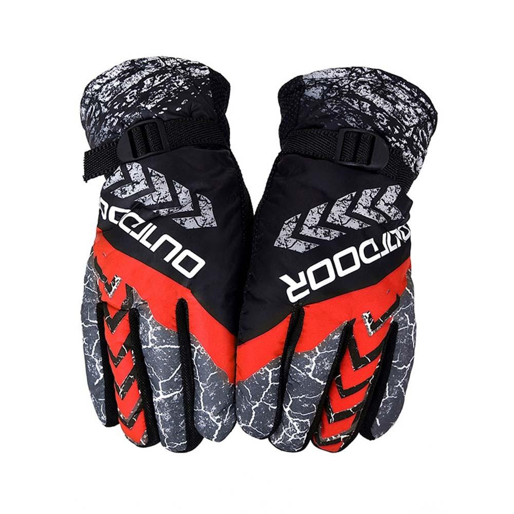 Waterproof Gloves Skiing Snow Windproof Thermal Warm Fleece Gloves Men Women Motorcycle Mitten Full Finger Antislip Thermal New