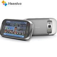 C7 Nokia Ontgrendeld Originele 3.5Inch Mobiele Mobiele Telefoon Gsm 3G Wifi Gps 8MP 8Gb Intern Geheugen 1 jaar Garantie Gratis Verzending