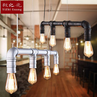 דרכים עתיקות תליון מנורה, יצוק ברזל צינורות, אישיות מזנון מסעדה תאורת תאורת מנורות ופנסים