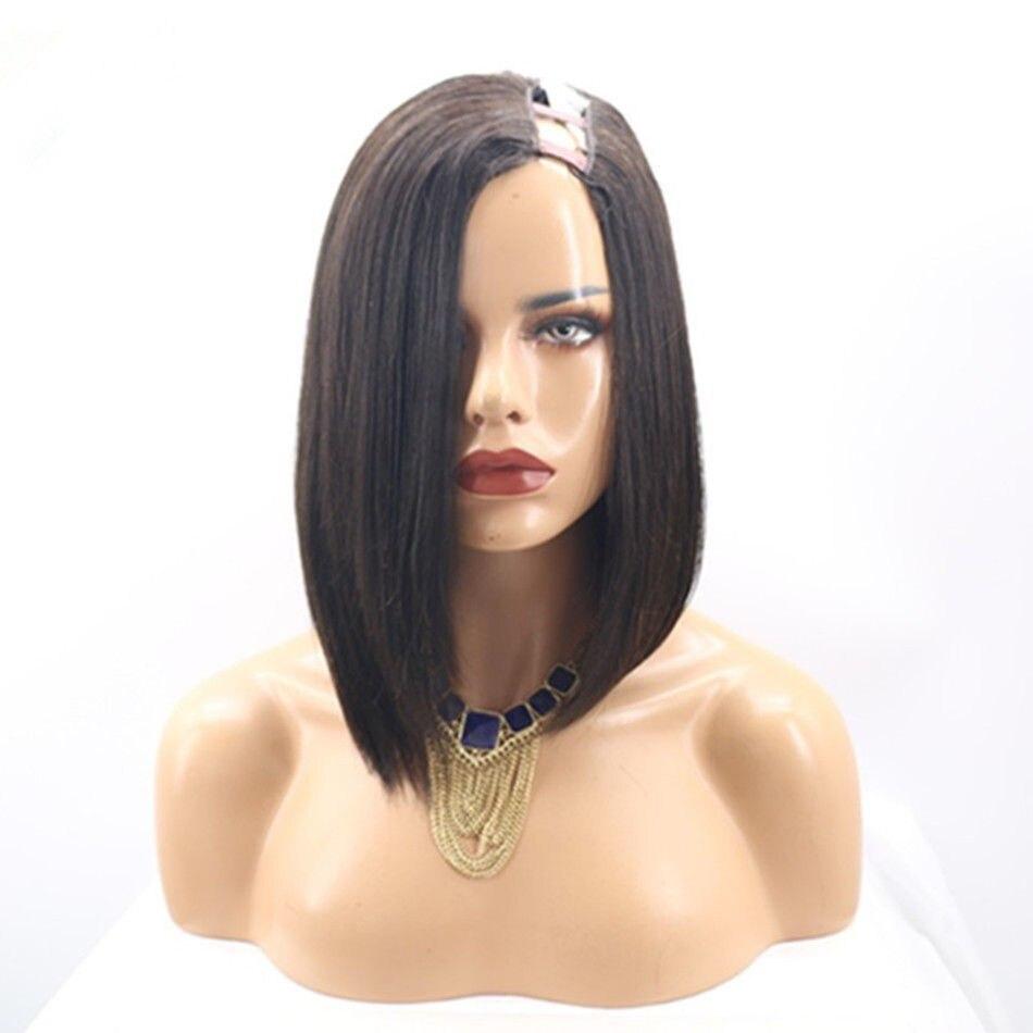 5543.06руб. 57% СКИДКА|Hesperis U Part парик из человеческих волос короткий боб парик из человеческих волос Боб U part кружевные парики для черных женщин U Part человеческие волосы парики|Парик из натуральных волос на кружеве| |  - AliExpress