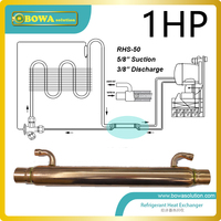 Subcooler/supheater has been designed with a view to achieving maximum heat transmission at minimum pressure drop