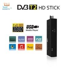 Nuevo DVB-T formato MPEG4 Mini DVB T2 TV de la ayuda MP3 T2 TV Receptor Digh Definición Digital TV stick Dispositivos para Ruso