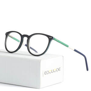 1fd958a38a0cfc EOOUOOE Design Women Glasses Round Retro Acetate Spectacles Oculos Diamonds  Clear Lens Men Eyewear Gafas Opticas Glasse Frame