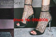 ce7a8eec59 Gladiador de plata negro estilete Sandalias Zapatos de fiesta de noche  vestido de señora zapatos de