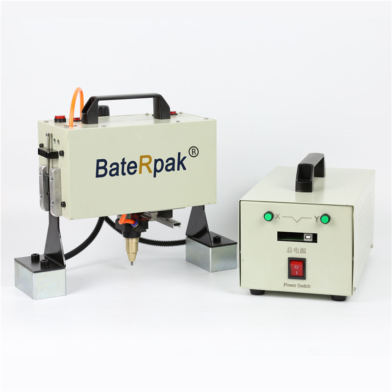 QD05 BateRpak Handheld pneumatic marking machine,Portable industrial tag machine,metal parts engraving machine(range 120*50mm) portable marking machine for vin code pneumatic dot peen marking machine 220v