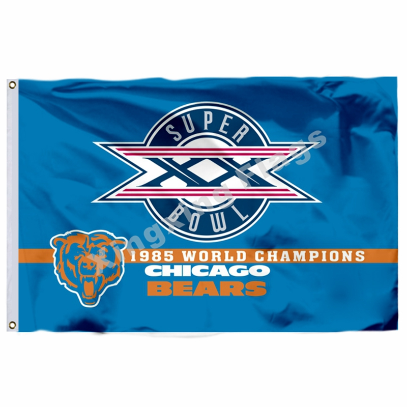 Chicago Bears 19885 Football Flag Logo NFL Banner Christmas Gift ...