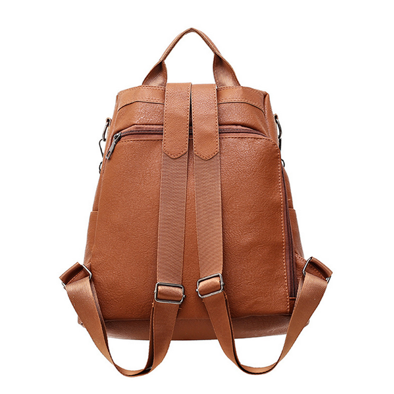 New American Style Pu Leather Backpack Men Fashion Backpacks Luggage Black Brown Bagpack Travel Escolar For Mens Young Child Easy To Lubricate Men's Bags Backpacks