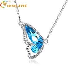 2018 Новое свадебное ожерелье с крыльями бабочки и австрийским