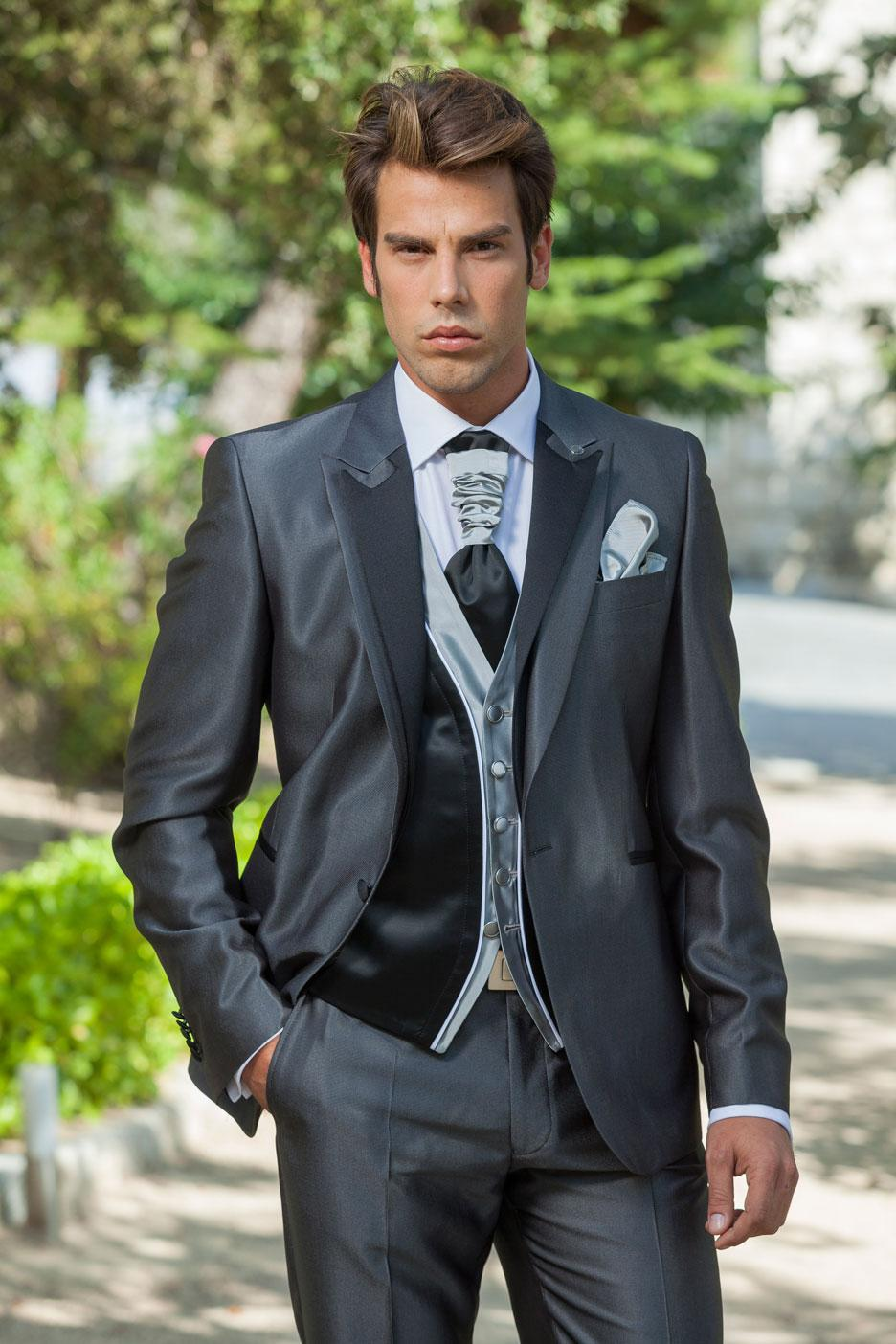 Handsome Designer Customized Dark Grey Wedding Ceremony suit Groom ...