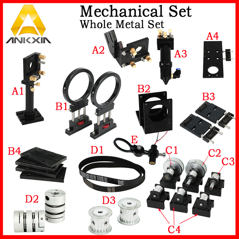 Co2 Laser Machine Mechanical Parts DIY Kit Components Metal Parts Transmission Laser Head co2 laser metal parts transmission laser head mechanical components model a for diy co2 laser engraving cutting machine