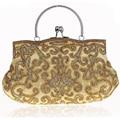 New 2017 embroidery clutch bags women Beaded glitter handmade wedding purse ,Evening Bags  handbags brand Retro  purse 03606-1