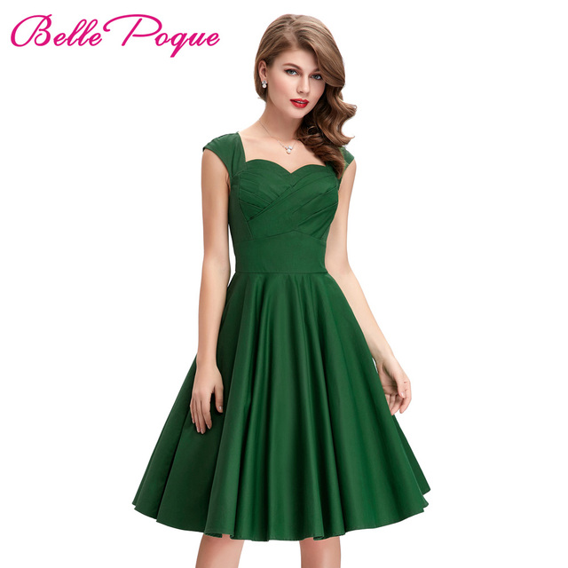 Pink and Green Dresses