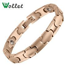 Ювелирные изделия wollet титановые браслеты для мужчин и женщин