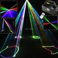 Новый 400 МВт RGB Лазерные Линии Луч Сканирует Пульт Дистанционного DMX DJ Танец бар Кофе Рождество Домашний Праздник Дискотека Эффект Освещения Света System Шоу D77