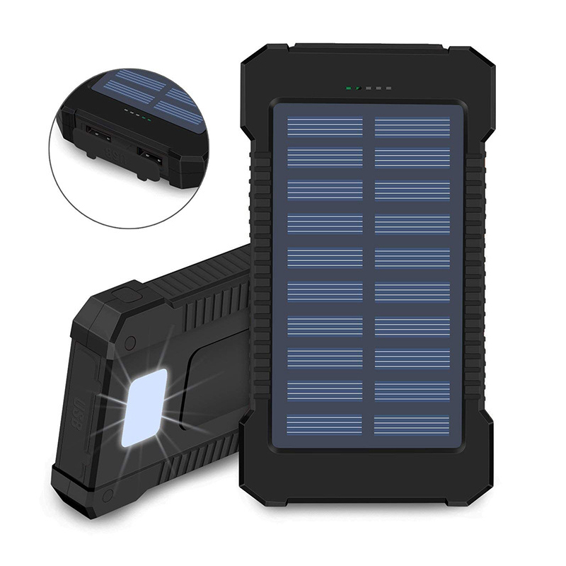 1pcs Diy Waterproof Dual Usb No Battery Solar Led 50000mah Power Bank Charger Case Kit 14.9cm X 7.4cm X 1.8cm Mobile Phone Adapters