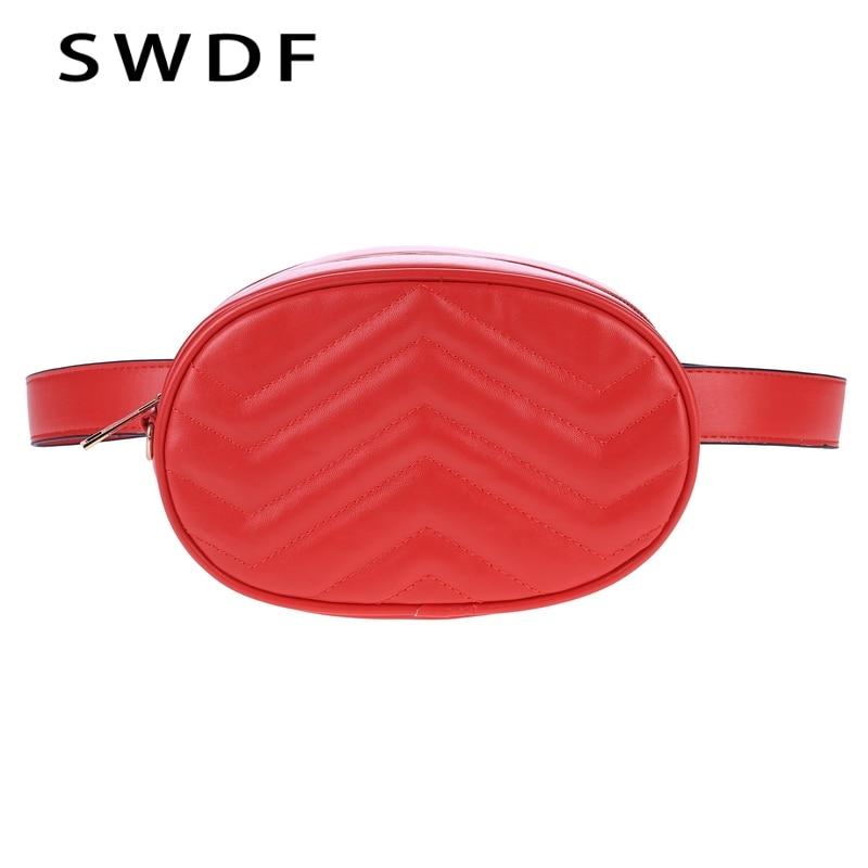 SWDF Handbags Women Bags Designer Waist Bag Fanny Packs Lady's Belt Bags Women's Famous Brand Chest Handbag Shoulder Bag Purse