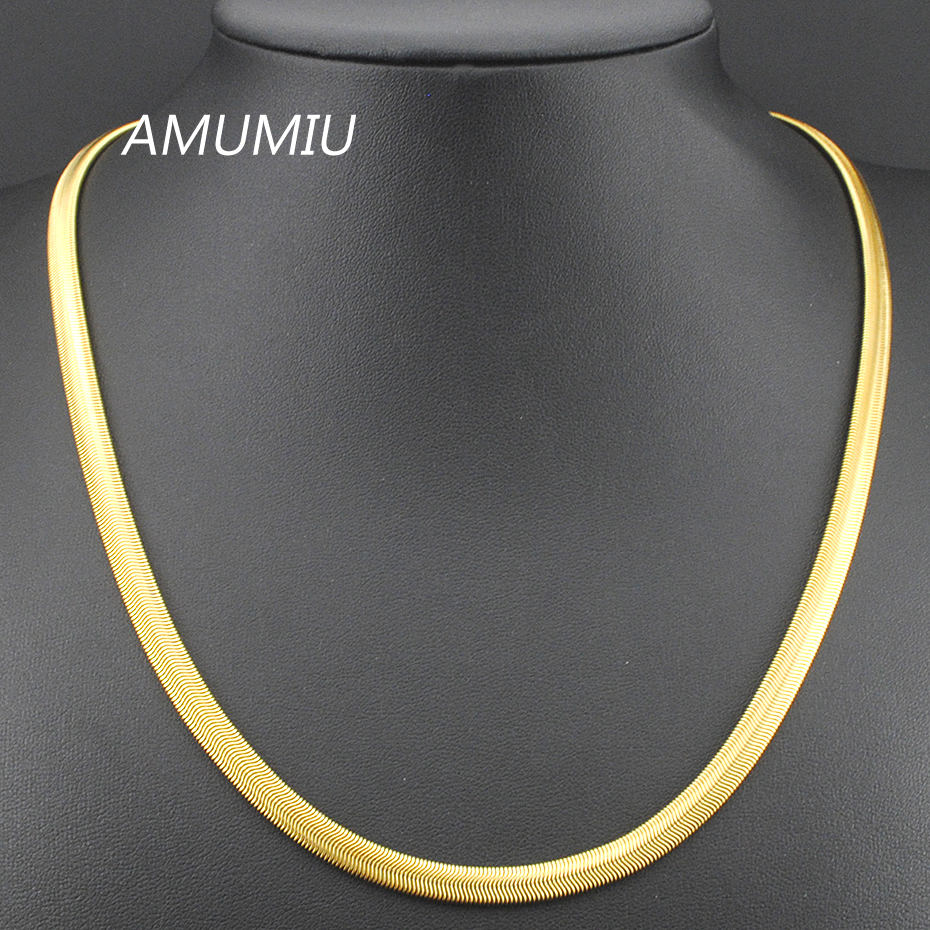 50/55/60cm,6mm, Stainless Steel Gold Color Flat Snake Necklaces Chain Mens Womens Jewelry 2017,Wholesale&Free Shipping KN02050/55/60cm,6mm, Stainless Steel Gold Color Flat Snake Necklaces Chain Mens Womens Jewelry 2017,Wholesale&Free Shipping KN020