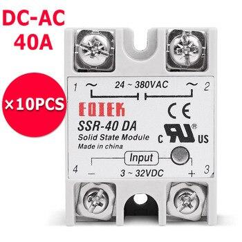 10 шт./лот Sinotimer бренд 3-32 В DC вход 380 В AC выходная нагрузка 40A твердотельное реле SSR SSR-40DA dc-ac