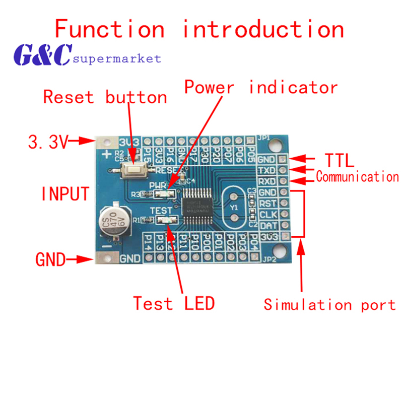 150m And 400m Version 2.4G Wireless Module Can Be Equipped With The N76E003AT20