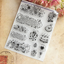 German Congratulations Happy Birthday Transparent Clear Silicone Stamps DIY Scrapbooking Photo Album Seals Decorative Sheets