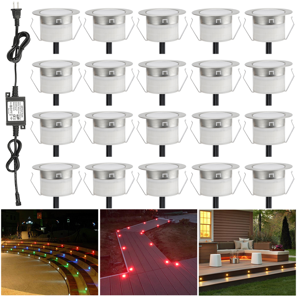 Humble 20pcs/lot 45mm Outdoor Landscape Terrace Stair Pathway Kickboard Recessed 12v Kitchen Cabinet Led Deck Rail Step Soffit Lights Led Underground Lamps