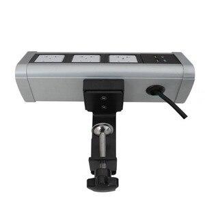 Image 5 - Fabrika doğrudan satış taşınabilir/no açılış masası/klip masaüstü multimedya masaüstü soketi şık uygun soket PD 01