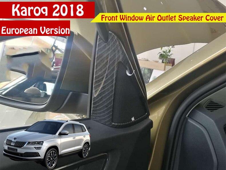 Car Front Window A Middle Air Outlet Speaker Cover Frame Sticker Car Stickers Car Styling 2pcs/Set For Skoda Karoq 2017 2018 durable rc car defender frame set for