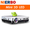 Nierbo 3d led projetor full hd 1080 p android portátil mini Projetores de vídeo Projector DLP Wi-fi Home Theater Business Game HDMI MHL