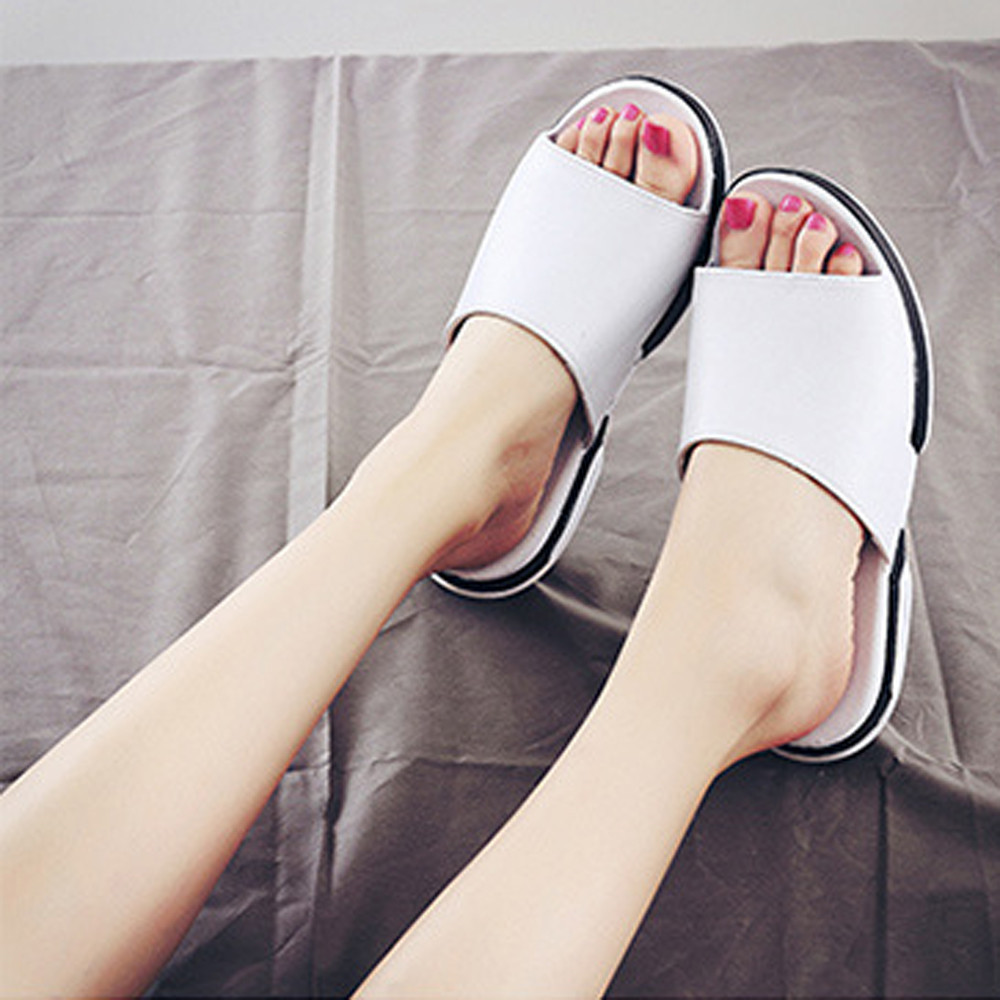 302713e19a61a SAGACE New Fashion 2018 Sandals Women Summer Thick Bottom Solid Hot Sale  Girls Beach Breathable Men Slipper Sandals Size40 45-in Slippers from Shoes  on ...