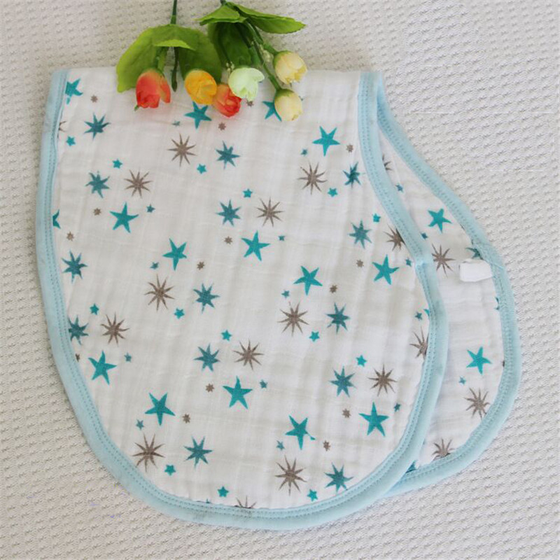 Free Shipping 100% Cotton Four Layers Baby Gauze Bib Shoulder Pad Regurgitate Milk Towel for 0-4years Baby Thickening