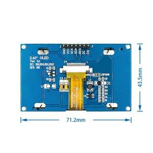 """Image 4 - Beyaz 2.42 """"2.42 inç LCD ekran 128x64 OLED ekran modülü IIC I2C SPI seri C51 SPD0301"""