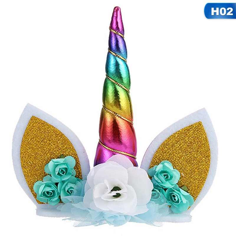 Unicorn Cake Toppers Horn Ears Cake Decorations Cupcake ...