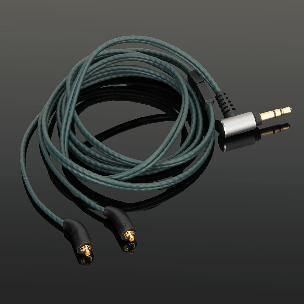 Upgrade OCC Silver Audio Cable Wire For Fidue A83 NuForce PRIMO8 Earphones headphones -Darkgreen