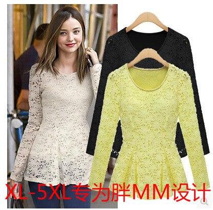 2016 Fashion Spring Miranda Kerr Plus Size 3xl 4xl Casual Long