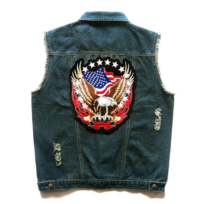 купить HEROBIKER Classic Vintage Motorcycle Rider Vest Motorcycke Jacket Moto Men Denim Club Vest Sleeveless Motorcycle Clothing по цене 3256.48 рублей