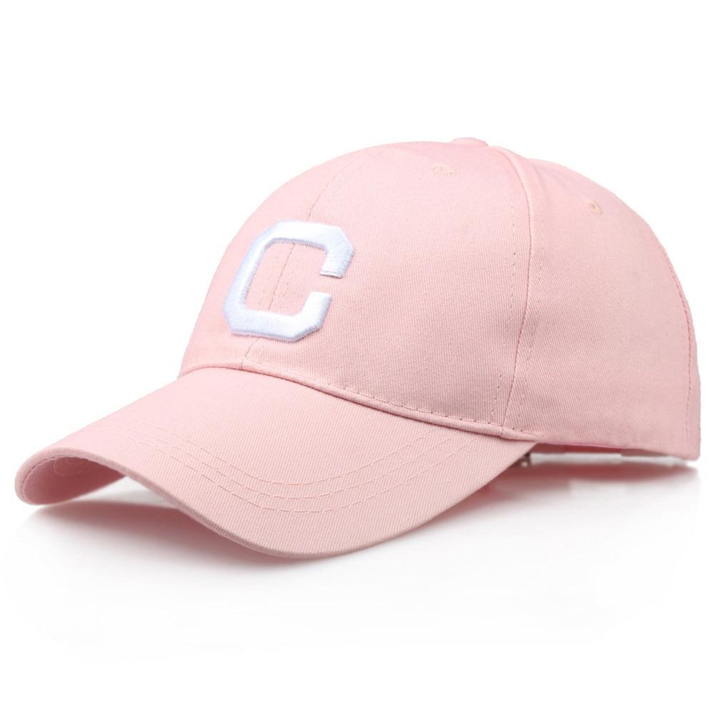 Men Women Embroidery Letter C Hats Hip-Hop Adjustable   Baseball     Cap   White black pink Leisure Sunshade cappello uomo #3