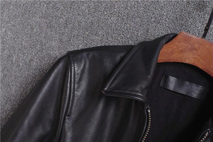Jaqueta de couro bovino genuíno, casaco masculino