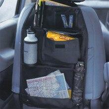 Huihom Multi Pocket Car Seat Back Storage Bag Organizer Tissue Box Drink Holder For Kids Car Seat Protector Cover 22*14