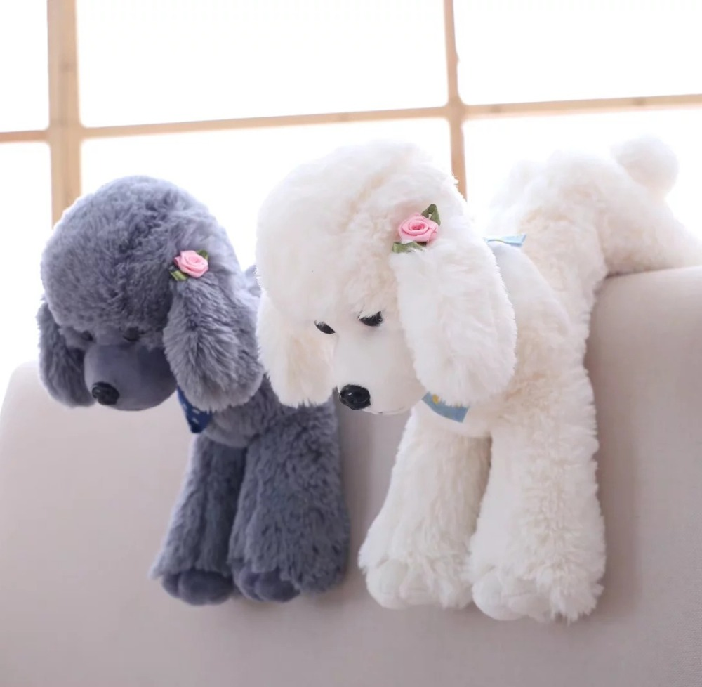 6 color 25-40cm Simulation Teddy dog doll, poodle home furnishing plush toys for girls birthday gifts цена